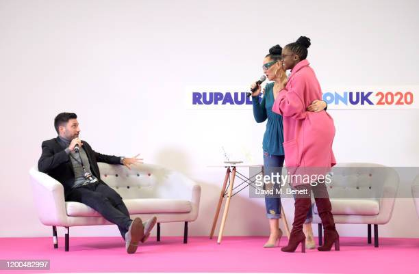 Giovanni Pernice, Michelle Visage and Oti Mabuse at RuPaul's DragCon UK presented by World Of Wonder at Olympia London on January 19, 2020 in London,...