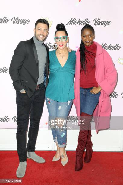 Giovanni Pernice Michelle Visage and Oti Mabuse attend RuPaul's DragCon UK presented by World Of Wonder at Olympia London on January 19 2020 in...
