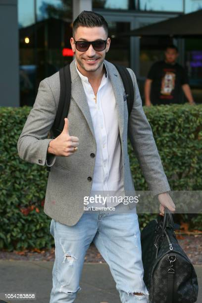 Giovanni Pernice seen leaving the Village Hotel in Elstree ahead of Strictly rehearsals on October 27 2018 in London England