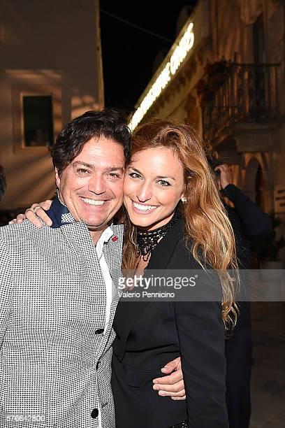 Giovanni Perosino and Beatrice Venezi attend during Locus Festival 2016 on July 16 2016 in Locorotondo near Bari Italy