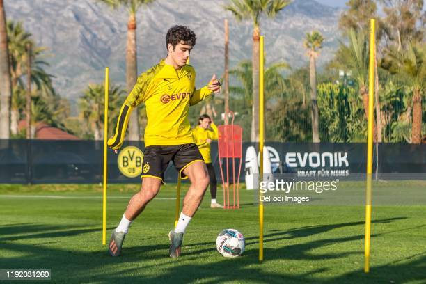 Giovanni Reyna of Borussia Dortmund controls the ball during day two of the Borussia Dortmund winter training camp on January 05 2020 in Marbella...