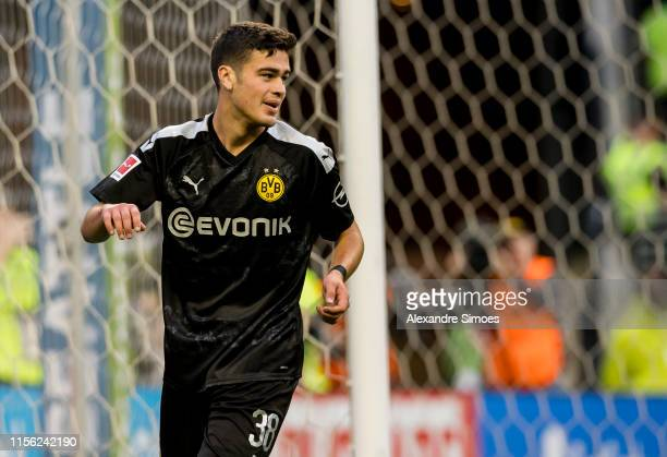 Giovanni Reyna of Borussia Dortmund in action during the match between Borussia Dortmund against Seattle Sounders FC at the CenturyLink Field on July...