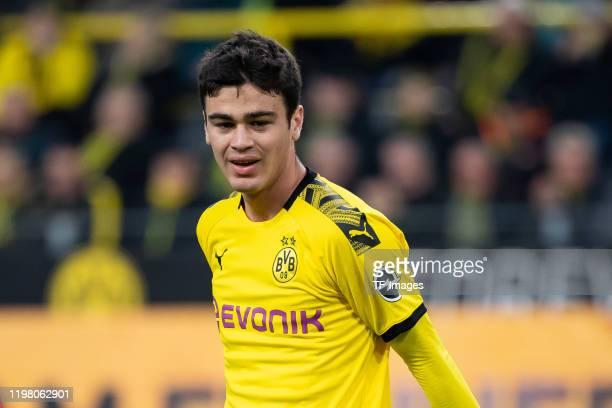 Giovanni Reyna of Borussia Dortmund looks on during the Bundesliga match between Borussia Dortmund and 1 FC Union Berlin at Signal Iduna Park on...