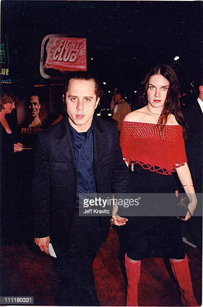 Giovanni Ribisi and Mariah O'Brien during Fight Club Premiere in Los Angeles California United States