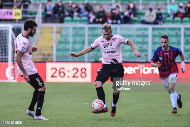 Giovanni Ricciardo and Malaury Martin during the serie D match between SSD Palermo and ASD Troina at Stadio Renzo Barbera on December 22, 2019 in...