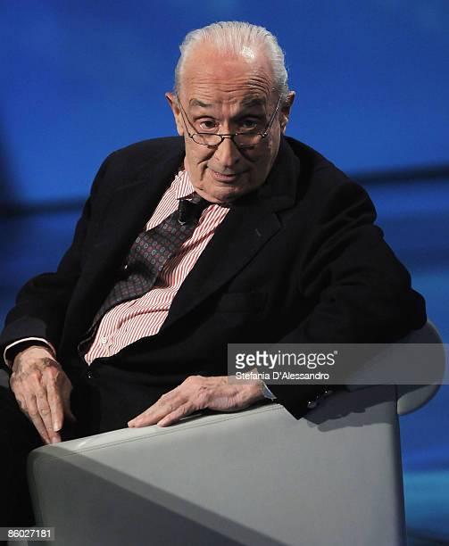 Giovanni Sartori attends 'Che Tempo che Fa' Tv Show on April 18 2009 in Milan Italy