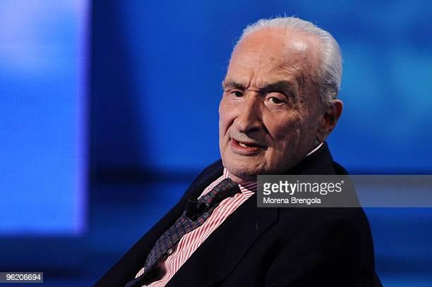 Giovanni Sartori during 'Che tempo che fa' on April 18 2009 in Milan Italy