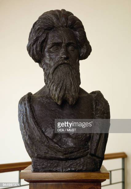 Giovanni Segantini bronze sculpture by Emile Antoine Bourdelle height 83 cm France 20th century