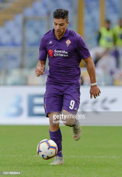 Giovanni Simeone during the Italian Serie A football match between SS Lazio and Fiorentina at the Olympic Stadium in Rome on october 07 2018
