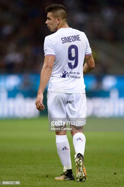 Giovanni Simeone of ACF Fiorentina looks on during the Serie A football match between FC Internazionale and ACF Fiorentina FC Internazionale wins 30...