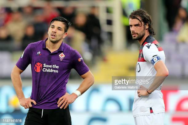 Giovanni Simeone of ACF Fiorentina reacts during the Serie A match between ACF Fiorentina and Bologna FC at Stadio Artemio Franchi on April 14 2019...