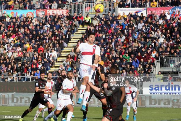 Giovanni Simeone of Cagliari in action during the Serie A match between Cagliari Calcio and AC Milan at Sardegna Arena on January 11 2020 in Cagliari...