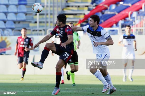 Giovanni Simeone of Cagliari in action during the Serie A match between Cagliari Calcio and Atalanta BC at Sardegna Arena on July 5 2020 in Cagliari...