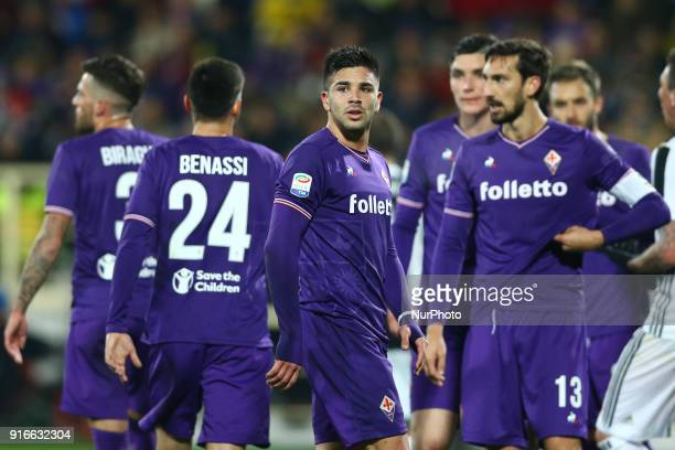 Giovanni Simeone of Fiorentina during the serie A match between ACF Fiorentina and Juventus at Stadio Artemio Franchi on February 9 2018 in Florence...