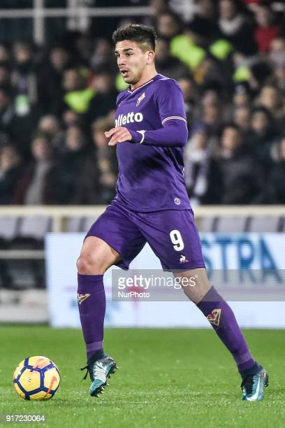 Giovanni Simeone of Fiorentina during the Serie A match between Fiorentina and Juventus at Stadio Artemio Franchi Florence Italy on 9 February 2018