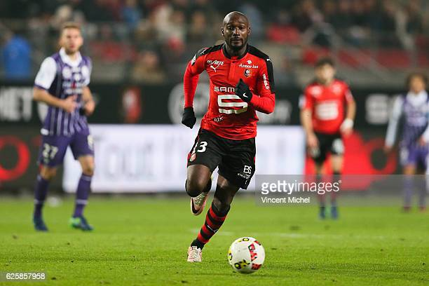 Giovanni Sio of Rennes during the French Ligue 1 match between Rennes and Toulouse at Roazhon Park on November 25, 2016 in Rennes, France.