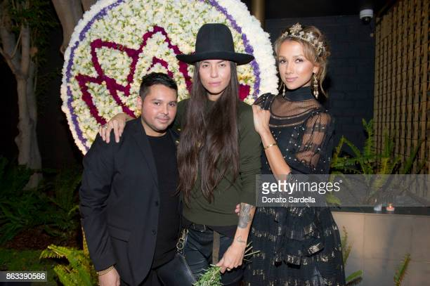 Giovanni St Pierre Tasya Van Ree and Amie Satchu at Living Beauty 'The Gift' Photo Exhibit at The Buterbaugh Gallery on October 19 2017 in Los...