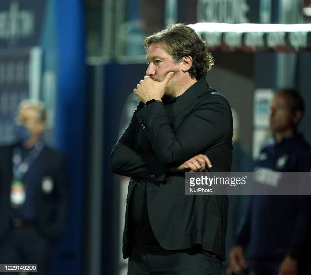 Giovanni Stroppa head coach of Fc Crotone during the Serie A match between Fc Crotone and Juventus Fc on October 17 2020 stadium quotEzio Scidaquot...