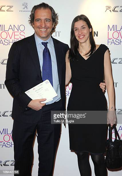 Giovanni Terzi and wife attend the Duran Duran dinner and concert at the Teatro dal Verme as part of Milan Fashion Week Womenswear Autumn/Winter 2011...