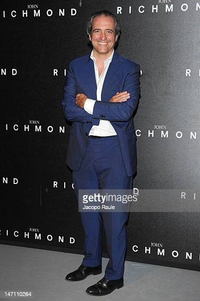 Giovanni Terzi arrives at the John Richmond show as part of Milan Fashion Week Menswear Spring/Summer 2013 on June 25 2012 in Milan Italy