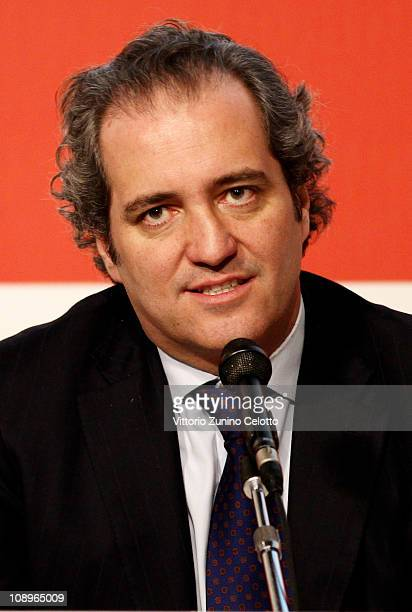 Giovanni Terzi attends the White N21 Press Conference held at Palazzo Marino on February 10 2011 in Milan Italy