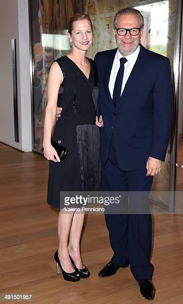 Giovanni Testino and his wife attend at the Mario Testino Exhibition Opening at the Pinacoteca Giovanni e Marella Agnelli on May 16 2014 in Turin...