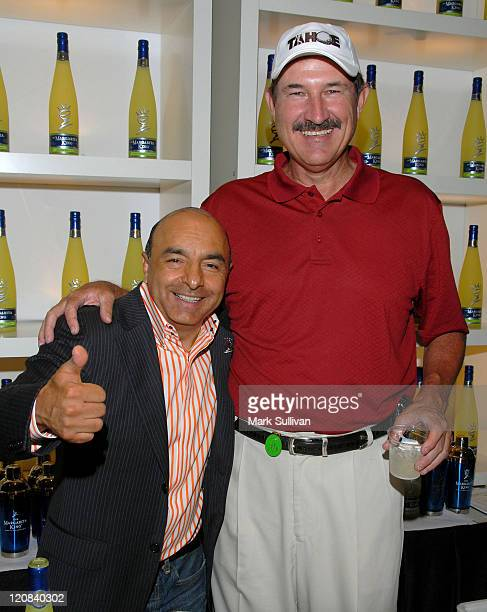 Giovanni the Margarita King and former MLB player Rick Rhoden attends Backstage Creations at 2008 American Century Championship July 9 2008 at...