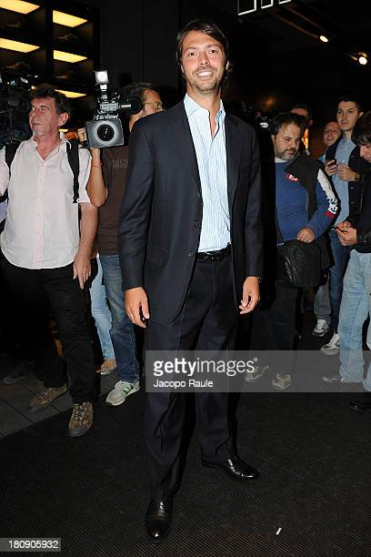 Giovanni Tonchetti Provera is seen at Pirelli PZero Store during The Milan Vogue Fashion Night Out on September 17 2013 in Milan Italy