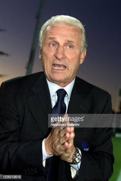 Giovanni Trapattoni head coach of Italy during the training session on Centro Tecnico Federale di Coverciano in Florence, Italy.