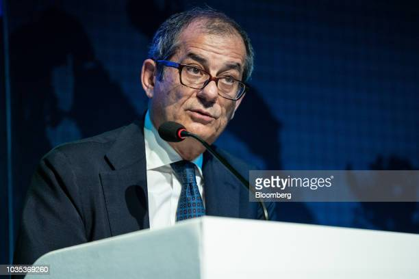 Corrado Passera founder and chief executive officer of Spaxs SpA speaks during the European Capital Markets in Milan Italy on Tuesday Sept 18 2018...