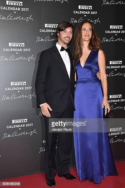 Giovanni Tronchetti Provera and Giada Tronchetti Provera attend Pirelli Calendar 2017 by Peter Lindberg photocall at La Cite Du Cinema on November...