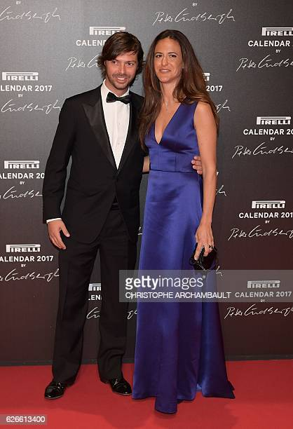Giovanni Tronchetti Provera and Giada Tronchetti Provera son and daughter of Pirelli's chief executive officer pose during a photocall ahead of a...