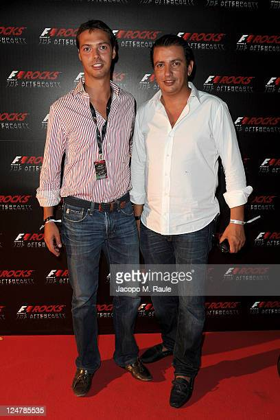 Giovanni Tronchetti Provera and Khaled Jnifen attend F1 Rocks The After Party at Just Cavalli on September 11 2011 in Milan Italy