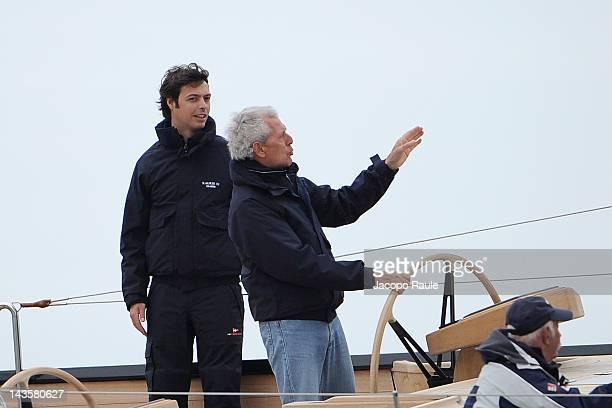 Giovanni Tronchetti Provera and Marco Tronchetti Provera are seen during Regate Pirelli - Coppa Carlo Negri on April 29, 2012 in Santa Margherita...