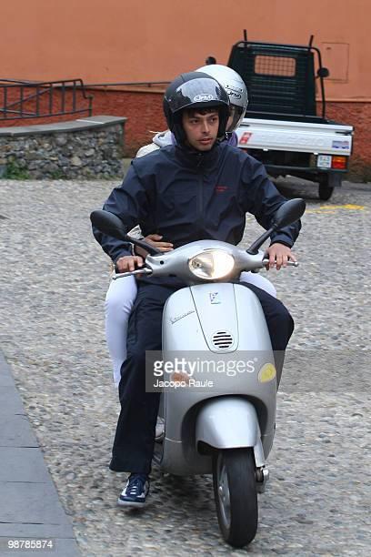 Giovanni Tronchetti Provera is seen on his Vespa on May 1, 2010 in Portofino, Italy.