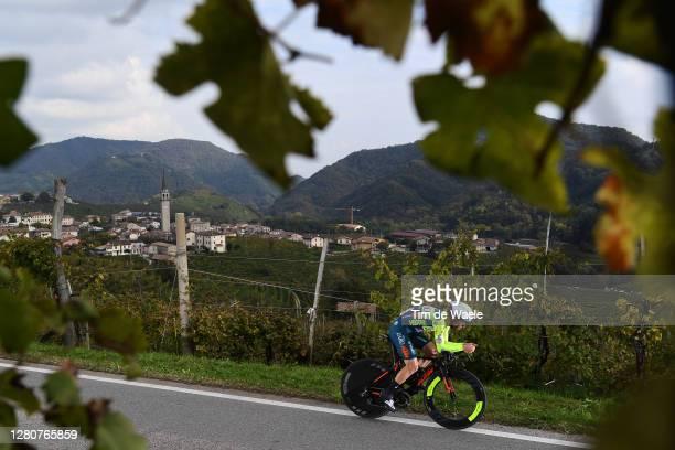 Giovanni Visconti of Italy and Team Vini Zabu KTM / Santo Stefano Village / Vineyards / Landscape / during the 103rd Giro d'Italia 2020, Stage 14 a...