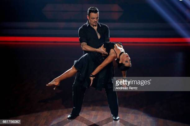 Giovanni Zarrella and Christina Luft perform on stage during the 3rd show of the tenth season of the television competition 'Let's Dance' on March 31...