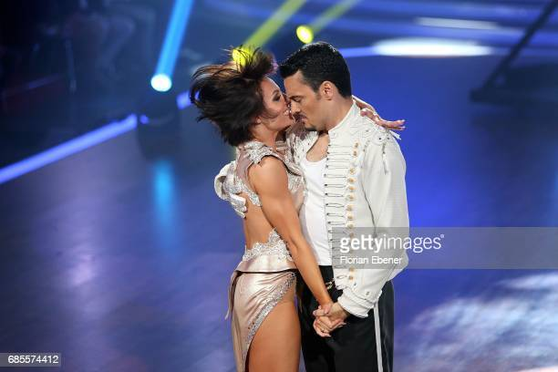Giovanni Zarrella and Christina Luft perform on stage during the 9th show of the tenth season of the television competition 'Let's Dance' on May 19...