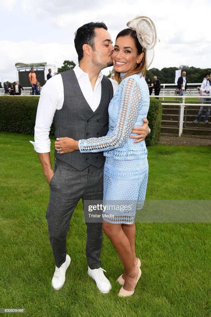 Giovanni Zarrella and his wife Jana Ina Zarrella during the Audi Ascot Race Day (Renntag) 2017 on August 20, 2017 in Hanover, Germany.
