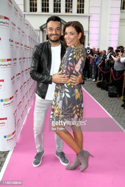 Giovanni Zarrella and his wife Jana Ina Zarrella during the Ernsting's family Fashion Show 2019 on July 11 2019 in Hamburg Germany