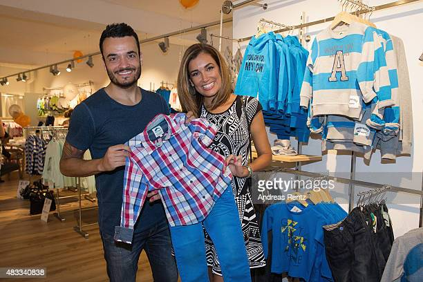 Giovanni Zarrella and Jana Ina Zarrella seen shopping during the first anniversary celebrations of the City Outlet Bad Muenstereifel on August 7 2015...