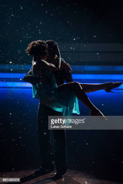 Giovanni Zarella and Marta Arndt perform on stage during the 8th show of the tenth season of the television competition 'Let's Dance' on May 12 2017...