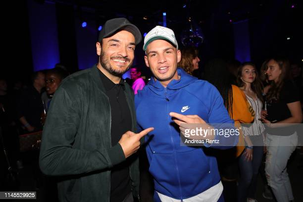 Giovanni Zarrella and Pietro Lombardi attend the after work show during the season 16 finals of the tv competition show Deutschland sucht den...