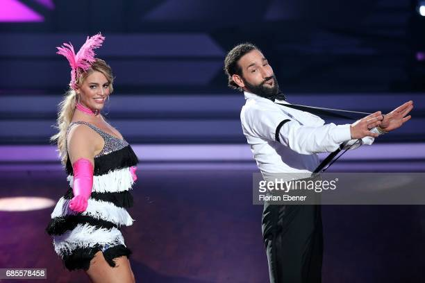 Giovanni Zarrella Christina Luft Angelina Kirsch and Massimo Sinato perform on stage during the 9th show of the tenth season of the television...