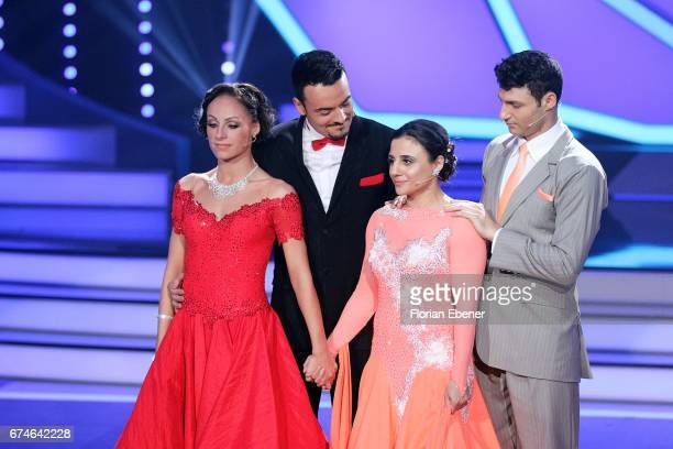 Giovanni Zarrella Marta Arndt Susi Kentikian and Robert Beitsch during the 6th show of the tenth season of the television competition 'Let's Dance'...