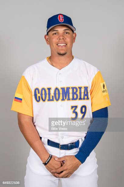 Giovanny Urshela of Team Colombia poses for a headshot for Pool C of the 2017 World Baseball Classic on Tuesday March 7 2017 at CenturyLink Sports...