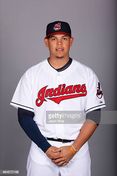 Giovanny Urshela of the Cleveland Indians poses during Photo Day on Thursday February 26 2014 at Goodyear Ballpark in Goodyear Arizona