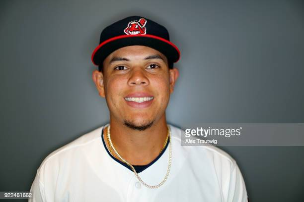 Giovanny Urshela of the Cleveland Indians poses during Photo Day on Wednesday February 21 2018 at Goodyear Ballpark in Goodyear Arizona