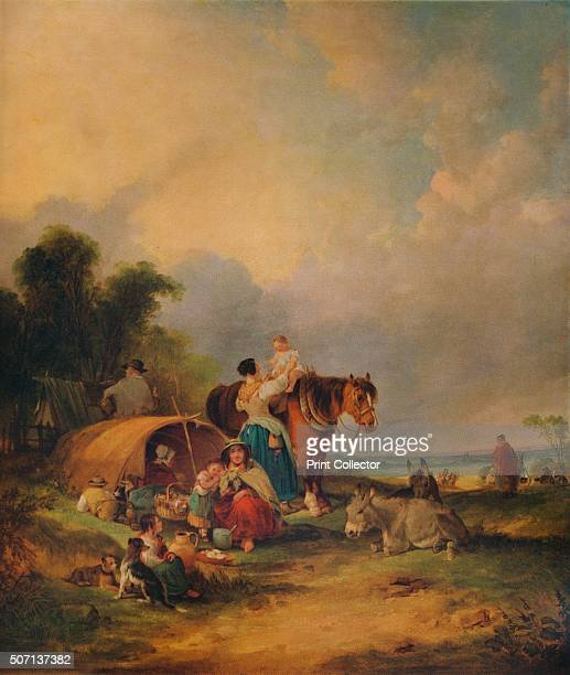 A Gipsy Encampment' c1788 Painting held at the Nottingham City Museums and Galleries Nottingham From A Catalogue of the Pictures and Drawings in the...