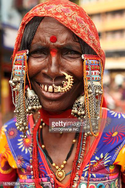 gipsy lady - nose piercing stock pictures, royalty-free photos & images